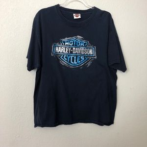 Harley Davidson | Black and Blue Graphic Tee